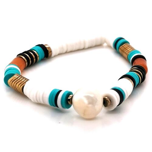 bracelet-zag-vert-marron-et-dore